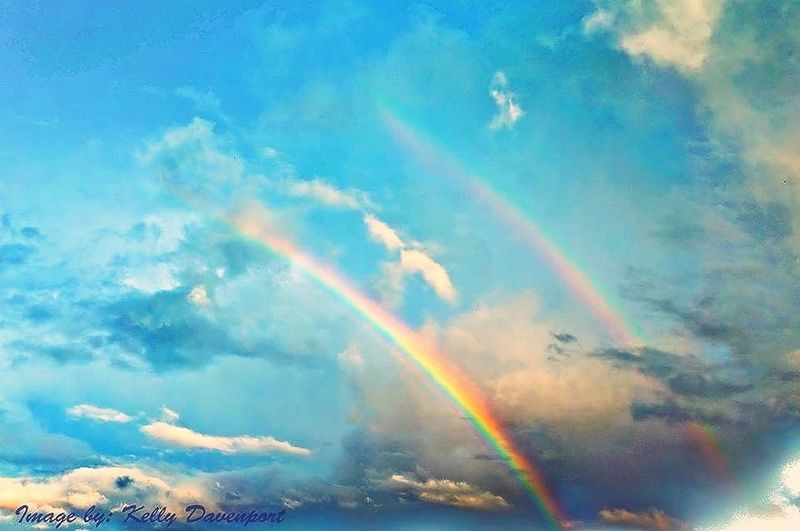 Double rainbow over Indiana Skies Rainbow Dreaming Colors
