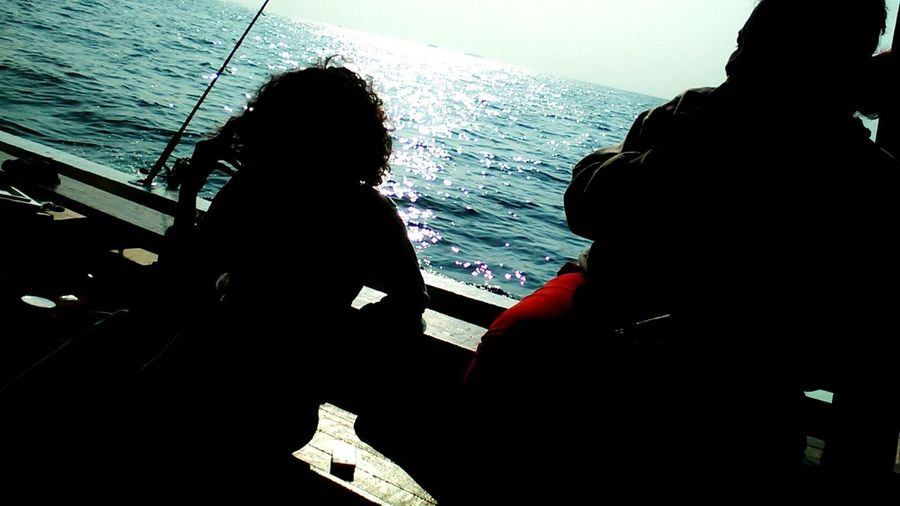 Mancing bersama para Jurnalis dalam Sahur on the Boat di Tanjung Pasir, Kepulauan Seribu First Eyeem Photo Silhouette Tanjung Pasir Kepulauan Seribu Fishing Boat Relaxing Journalist Fishing On Boat Open Edit