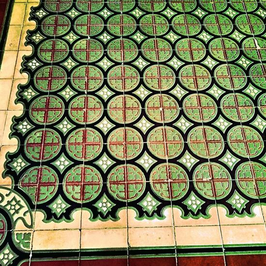 a portogical mosaic Pattern Backgrounds Day No People Outdoors Architecture