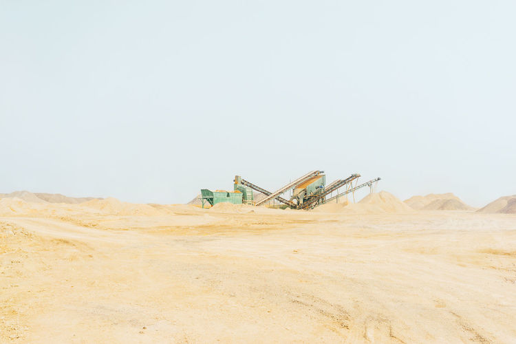 Clear Sky Day Industry Landscape Mining Nature No People Oil Pump Outdoors Quarry Sand Sky