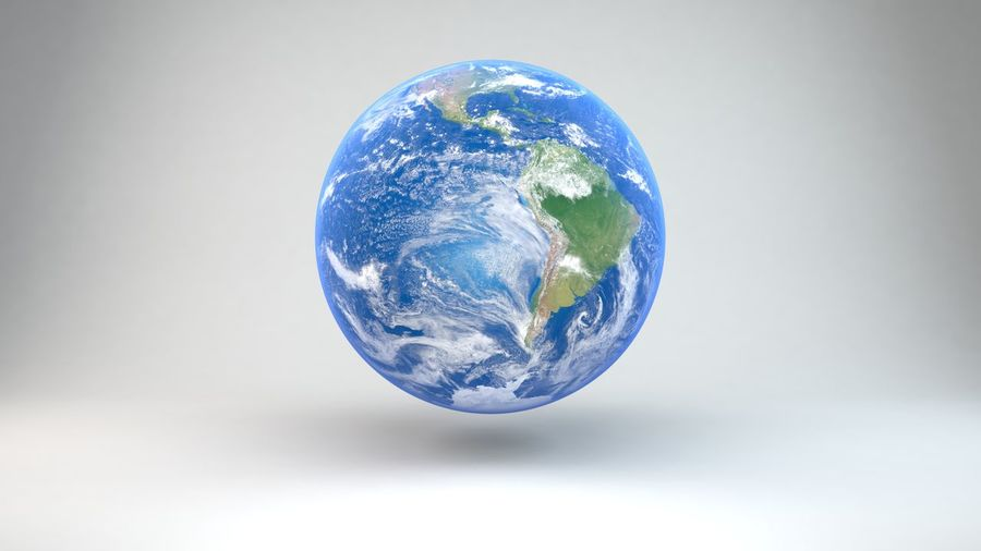 4K Earth From Space Earth From Space Series Science Science And Technology Cloud - Sky Corporate Business Global Business Globe - Man Made Object No People Planet - Space Planet Earth Satellite View Sea Space Sphere Studio Shot White Background