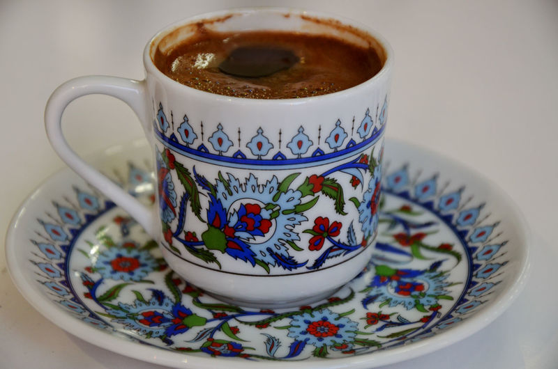 Blue Pattern Close-up Coffee Coffee Break Coffee Time Cup Drink DSLR Photography Food Photography Multi Colored Pattern Design Porcelain  Tamar Mirianashvili Traditional Drink Travel Photography Turkey Turkish Coffee Turkishcoffee