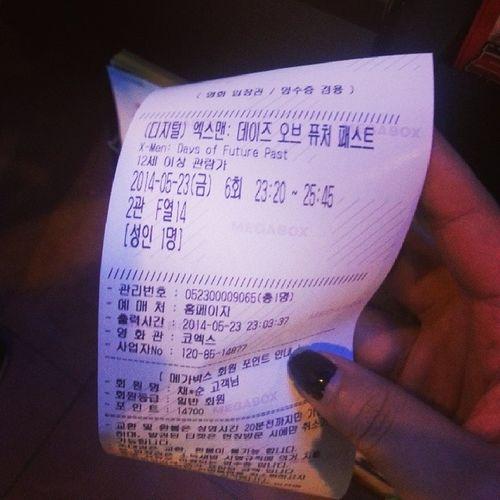 엑스맨 보러 왔닷!!!!초초초 기대!! 빨리 시작해랑 ㅎ 영화 메가박스 혼자 엑스맨 기대중♥