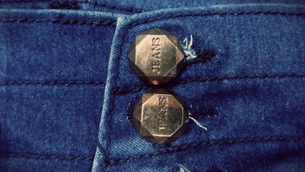 #buttons #jeans #the OO Mission Blue Close-up Detail No People Pair Still Life