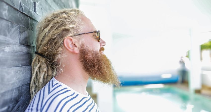 Eyeglasses  Only Men Beard One Man Only Adults Only Young Adult One Person Enjoyment Adult One Young Man Only Happiness Sunlight Headshot People Leisure Activity Stubble Men Day Indoors  Sunny Potrait Fashion RASTA Rastafari Long Hair