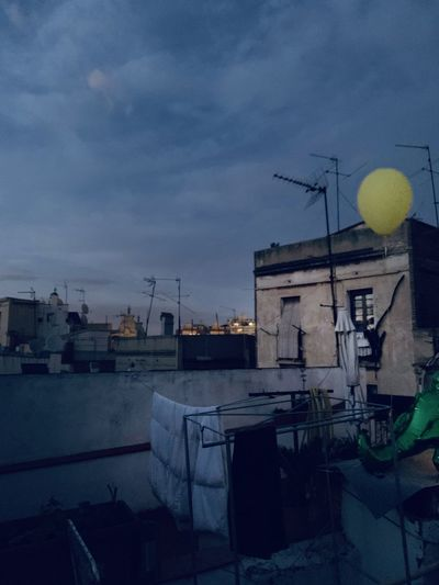 Celebration Rooftop Party Sunset Dusk Party Rooftop Yellow Balloon Balloon Springtime Decadence