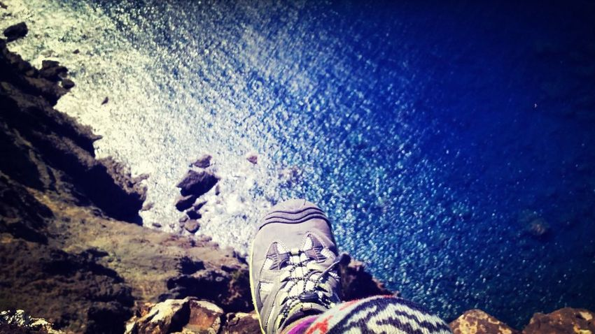 ogasawara ハートロックの崖っぷちに座っています…{(-_-)}