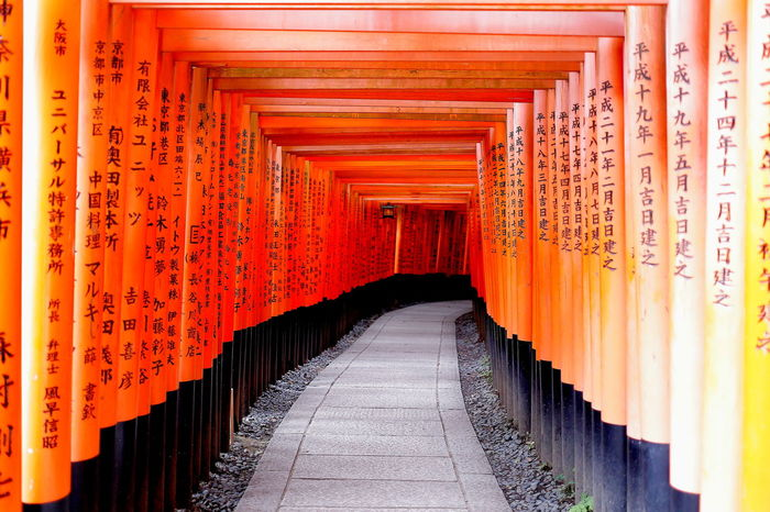 Architecture Column Continuous In A Row Japan Kyoto Kyoto,japan Repetitive First Eyeem Photo