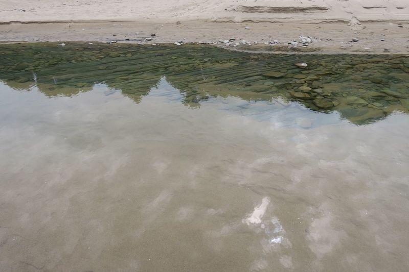 Bulgarian Nature Irakli Vaya River Reflection Water No People Outdoors The Great Outdoors - 2017 EyeEm Awards Sunny Day Black Sea♥ Sand Water Beach
