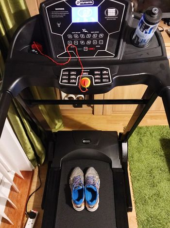 It's Time Day 1 Fitness Treadmill Running High Angle View Technology Day No People Indoors  Low Section Speedometer