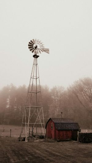 Old Farmhouse Windmill Country Shed Country Life Peaceful Sepia ArtWork