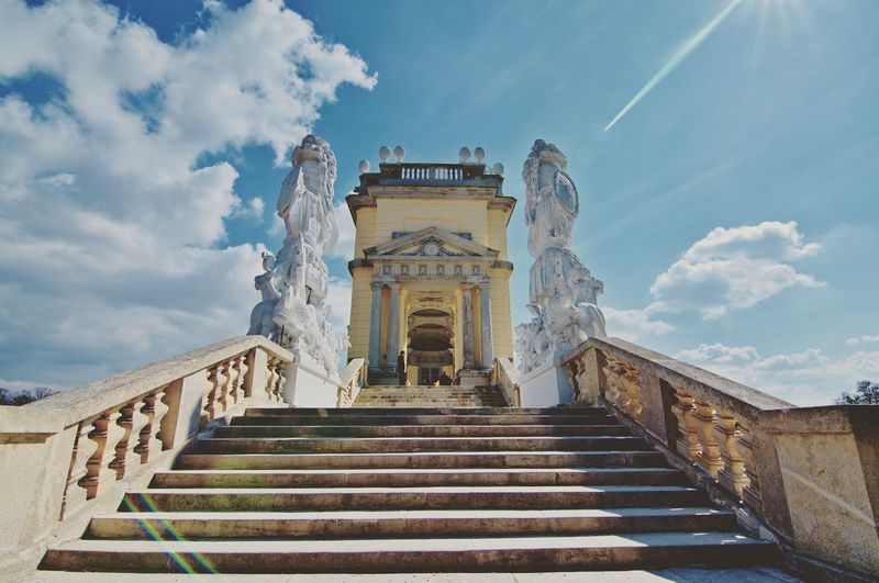 A beautiful old building near Vienna Vienna Austria Historical Architecture Schönbrunn Citylife Exploring Explore Österreich Outdoor Architektur Holiday Holidays EyeEm Selects City Ancient Civilization Sculpture Steps And Staircases Steps History Staircase Place Of Worship Ancient Religion Castle Palace
