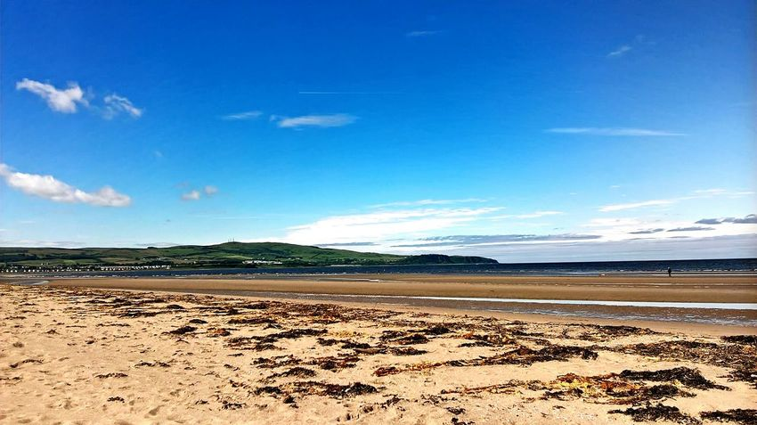 EyeEm Selects Beach Sand Nature Scenics Sea Beauty In Nature Water Tranquility Sky Outdoors Day Blue No People Landscape Scotland First Eyeem Photo