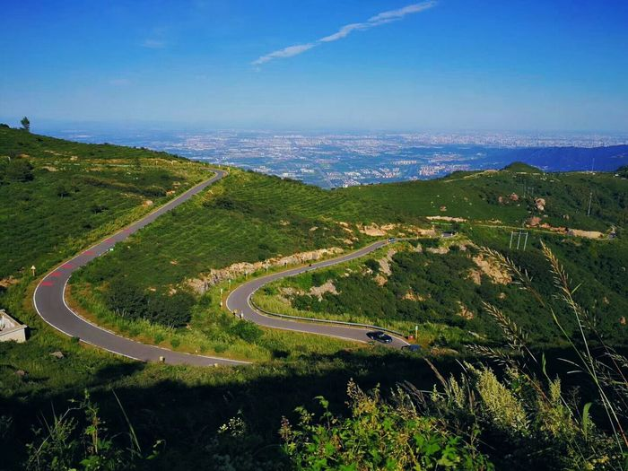 Aerial View Beauty In Nature Curve Day High Angle View Landscape Mountain Nature No People Outdoors Road Scenics Sea Sky Transportation Winding Road