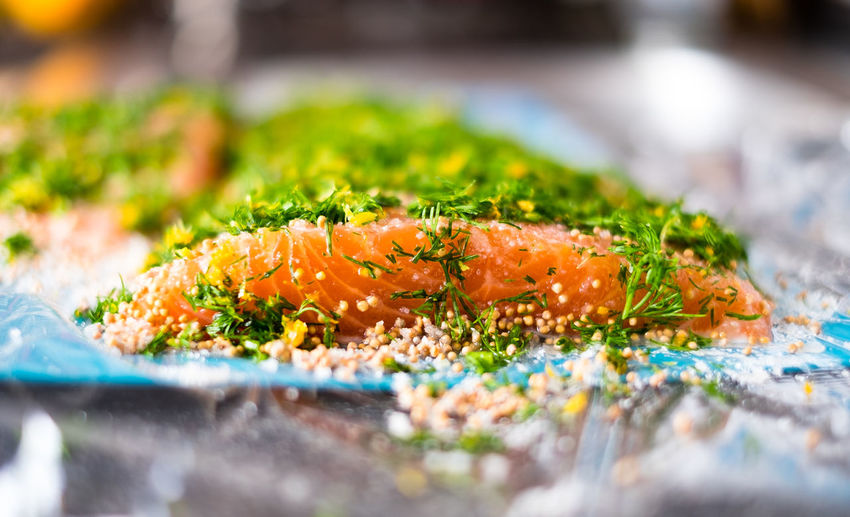 Close-up Food Food And Drink Freshness Healthy Eating Organic Preperation Salmon Wet