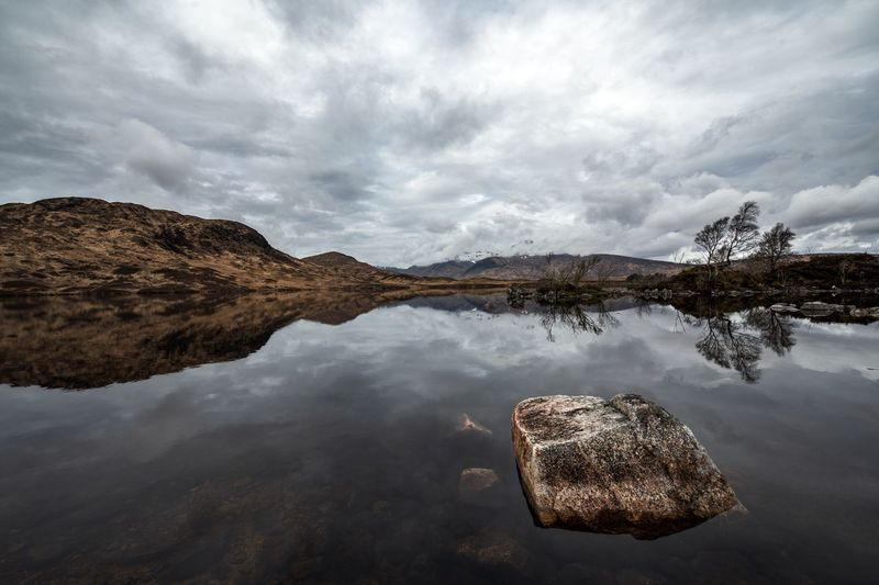 Loch Nah-Achlaise Scotland Cloud - Sky Lake Landscape Mountain Outdoors Reflection Rock Rock - Object Scenics - Nature Water Waterfront