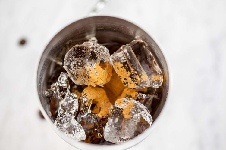 Close-Up Of Ice In Glass