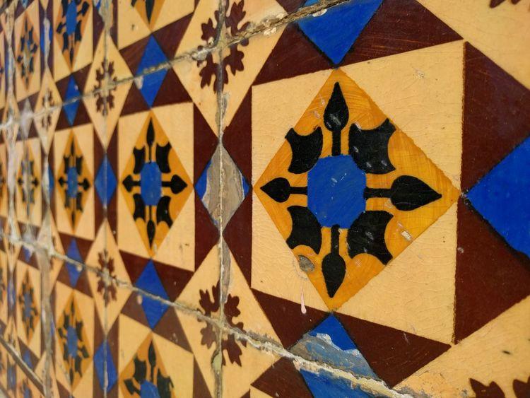 Colorful Portuguese Tiles  in Lisboa