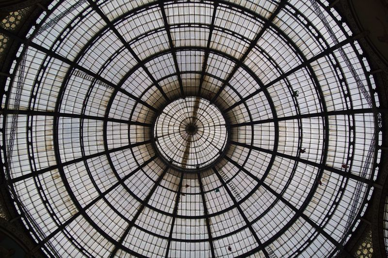 Architectural Feature Architecture Backgrounds Built Structure Ceiling Circle City Concentric Cupola Day Dome Full Frame Indoors  Low Angle View Modern No People Pattern Travel Destinations