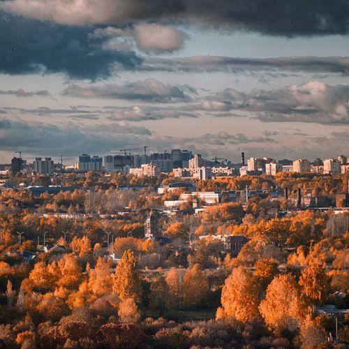 Autumn Sky Cityscape Architecture Nature Landscape Beauty In Nature Autumn Minsk,Belarus Cloud - Sky