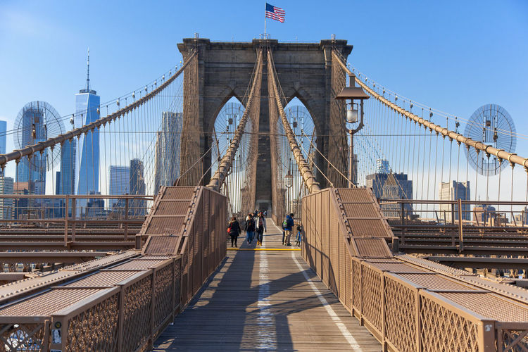 The Architect - 2018 EyeEm Awards The Brooklyn Bridge Architecture Bridge Bridge - Man Made Structure Built Structure City Engineering Outdoors Real People Sky Suspension Bridge Tourism Travel Destinations