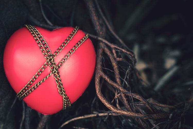 Close-up of heart shape decoration