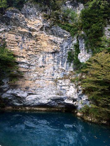 Blue lake - Lake Tshyna. 24 m depth