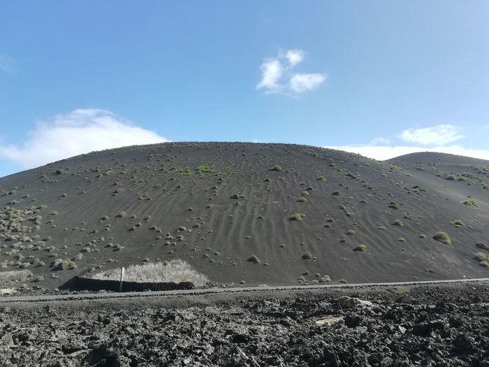 Timanfaya National Park Timanfaya Sand Dune Sand Black Sand Sand Mountains Mountain Sky Landscape Cloud - Sky Volcanic Landscape