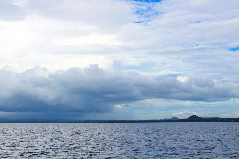 Water Tranquility Sea Cloud - Sky Scenics Landscape Outdoors Day Nature Blue Beauty In Nature Sky Horizon Over Water