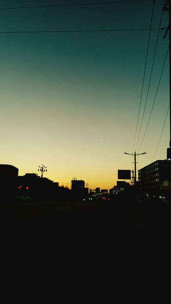 黄昏時 Silhouette Sunset No People Cable Car Outdoors Sky Electricity  City Electricity Pylon Telephone Line Nature Day