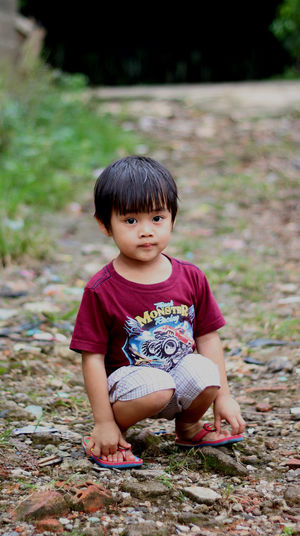 EyeEm Selects Full Length One Person Portrait People Looking At Camera Bangs Front View Babies Only Cute Childhood Sitting Grass Day Outdoors Nature Tree Adult MySON♥ Ezzra Fun