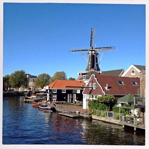 Windmill Urban Landscape Dutch Cityscapes
