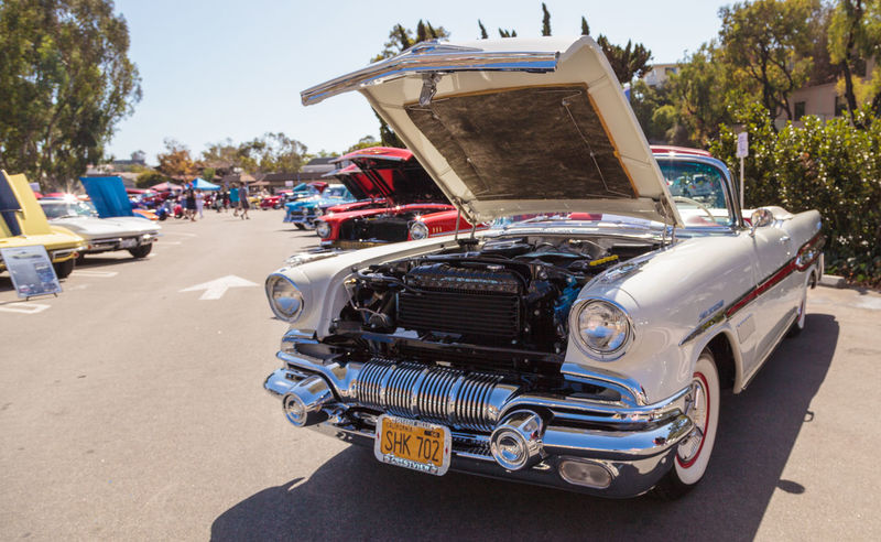 Laguna Beach, CA, USA - October 2, 2016: Cream 1957 Pontiac Bonniville owned by Kip Cyprus and displayed at the Rotary Club of Laguna Beach 2016 Classic Car Show. Editorial use. 1957 1957 Pontiac Bonniville Car Car Show Cars Classic Classic Car Classic Car Show Day Laguna Beach No People Old Old Car Outdoors Pontiac Pontiac Bonniville Vintage Vintage Car