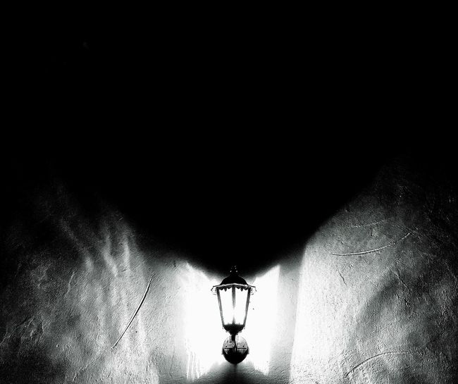 The shadow over the light. Lighting Equipment Illuminated Electric Lamp Night Electricity  Street Light No People outdoors