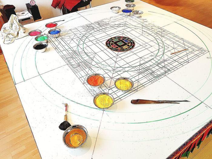 Sandmandala Mandala Art Mandala Sand Mandala Green Tara