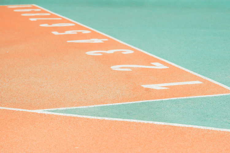 Finish Line Of Running Track