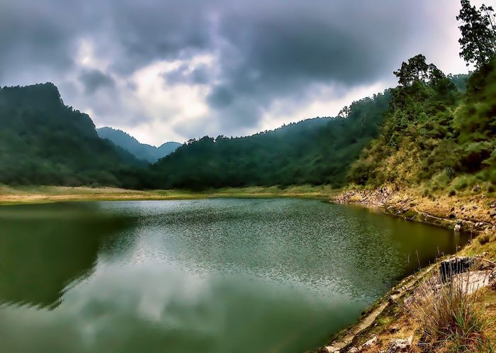 Mountain Nature Mountain Range Lake Beauty In Nature Landscape Water Reflection Scenics Fog No People Outdoors Day Tree Freshness Sky