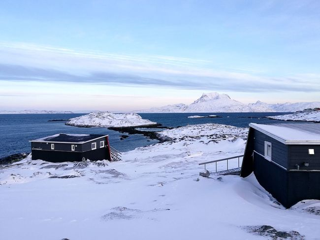 Inuk Hostel Nuuk Greenland Inuk Hostel Wiew Arctic Winterscapes Snow Winter Cold Temperature Tranquility No People Outdoors