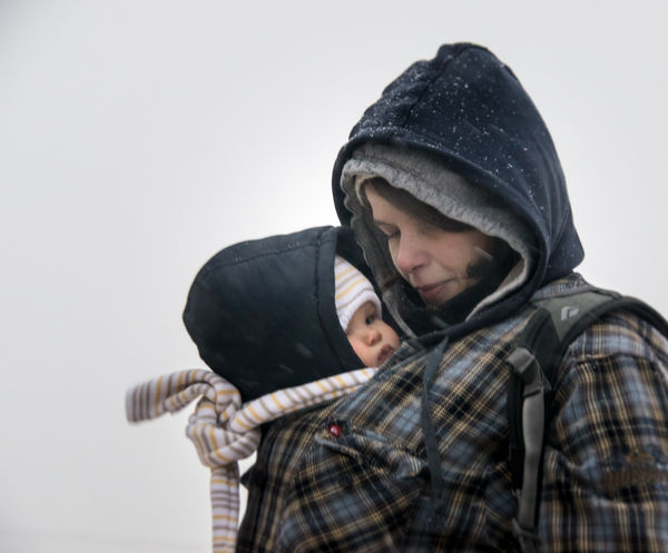 Mom with her baby inside her winter coat Baby Baby ❤ Carrying Casual Clothing Coat Cold Freeze Mom Mommy Person Real People Scarf Young Adult
