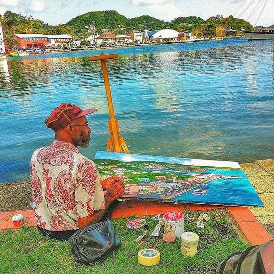Ilivewhereyouvacation Grenada Ig_caribbean_sea Islandlivity Instafoto_ve Ig_caribbean Islandlife Iphonesia Awesomecaptures Hdrstylesgf HDR Westindies_people Westindies_nature Westindies_color Wu_caribbean Painter Artist Scenery