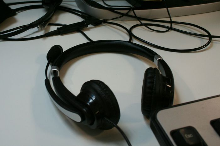 Indoors  Technology Office Headphone Work For Computer Keyboard Call Center Customerservice Customer Care
