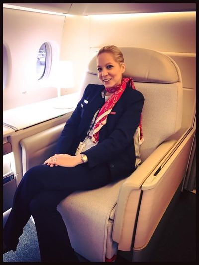 Only Women Young Adult Indoors  Portrait Transportation FlightAttendant Airlinecrew Firstclass New Airline Cabine