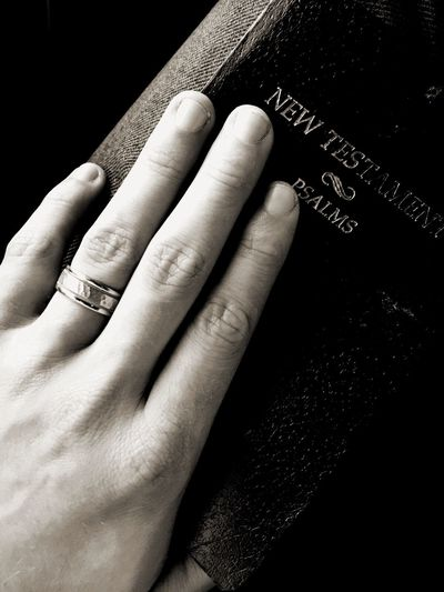 Bible Ring Rings Hand Check This Out That's Me Taking Photos