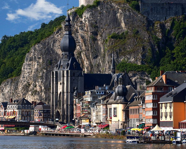View of Dinant, a municipality located on the River Meuse in the Belgian province of Namur Belgium Namur Belgium Architecture Building Exterior Built Structure Day Dinant Meuse Mountain No People Outdoors Province River Sky Water
