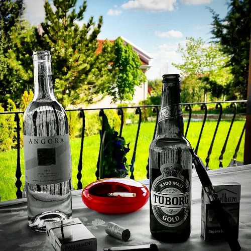 Beer Wine Colors Color Portrait Black And White Garden