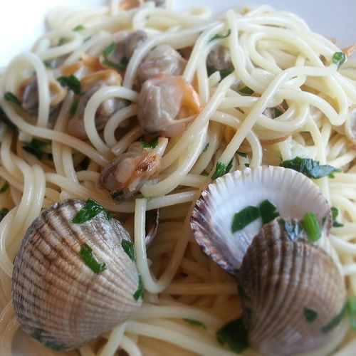 Og sånn skal det se ut, Vongole med Hjerteskjell denne gangen. Vår soleklare italienske favoritt, jentene jubler! ;-) GoodTimes Kokkemann dinner ladolcevita hjemme på eget kjøkken!
