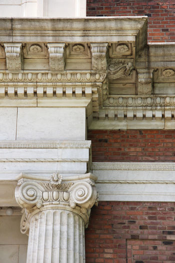 Decorative Stone Material Architectural Column Ornate Solid Low Angle View Human Representation No People The Past Craft History Building Exterior Built Structure Architecture Classical Style Historical Building Historical