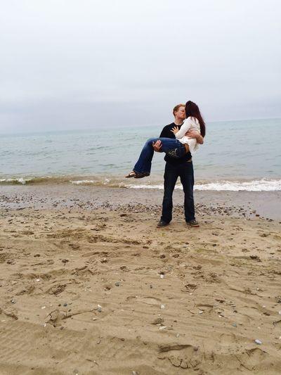 Beautiful Love Lakemichigan Boyfriend Kiss Enjoying Life Date