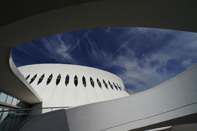 the volcano by Niemeyer Architecture Building Exterior Built Structure Cloud - Sky Day Low Angle View Modern No People Shape Sky Sunlight