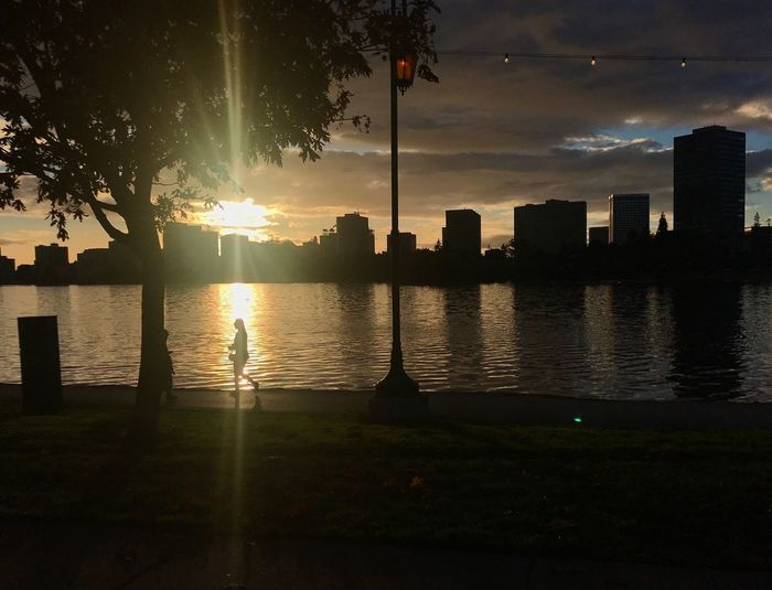 Lake Merrit too Sky Built Structure Architecture Building Exterior Water Sunset City